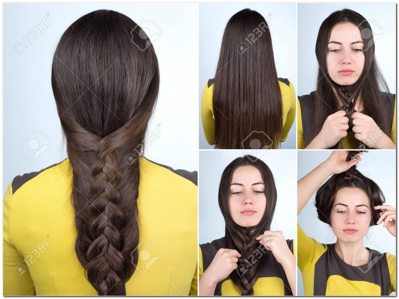 Schnelle Frisur Lange Haare