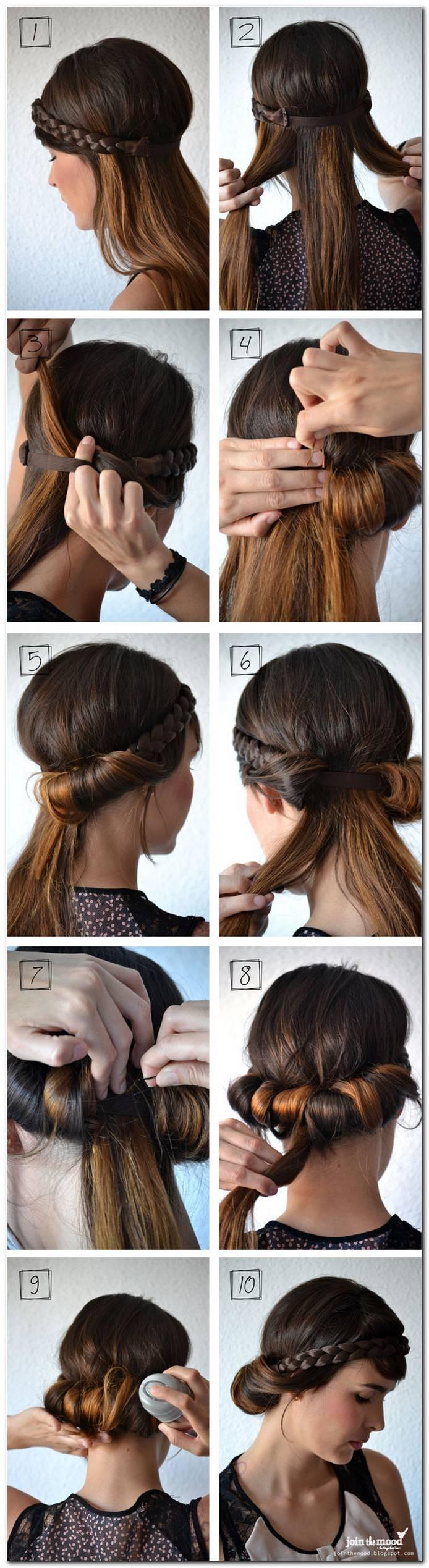 Schnelle Frisuren Mittellanges Haar Selber Machen