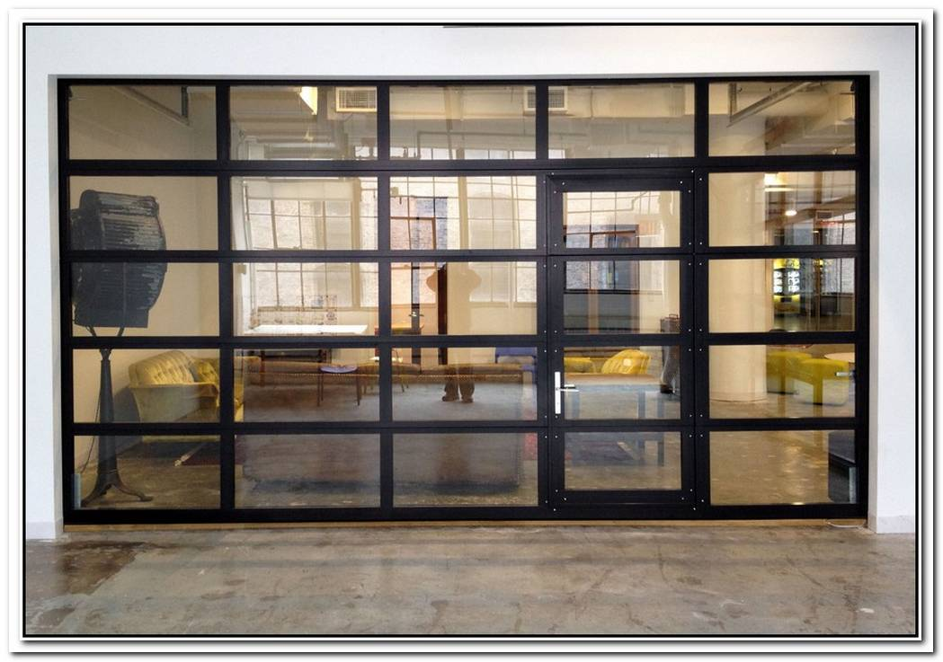 Sectional Glass Garage Doors Used In Modern Designs