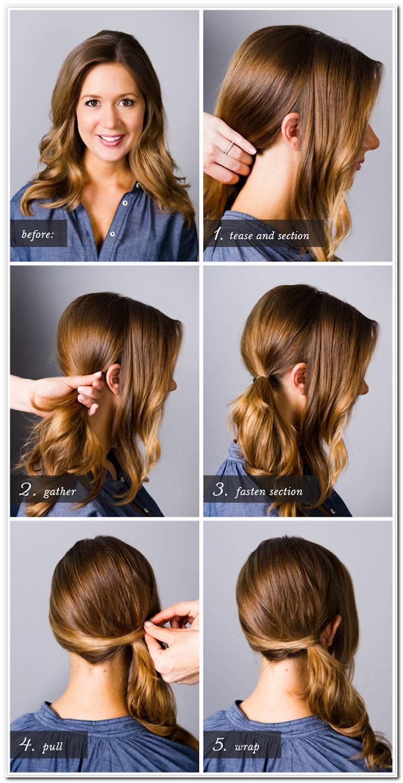 Seitliche Frisuren Anleitung