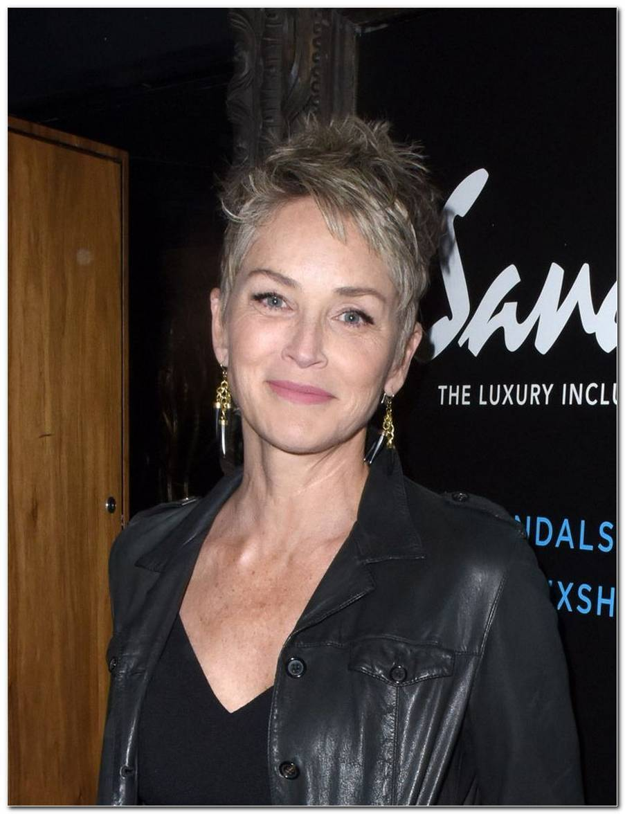 Sharon Stone Frisuren Kurz
