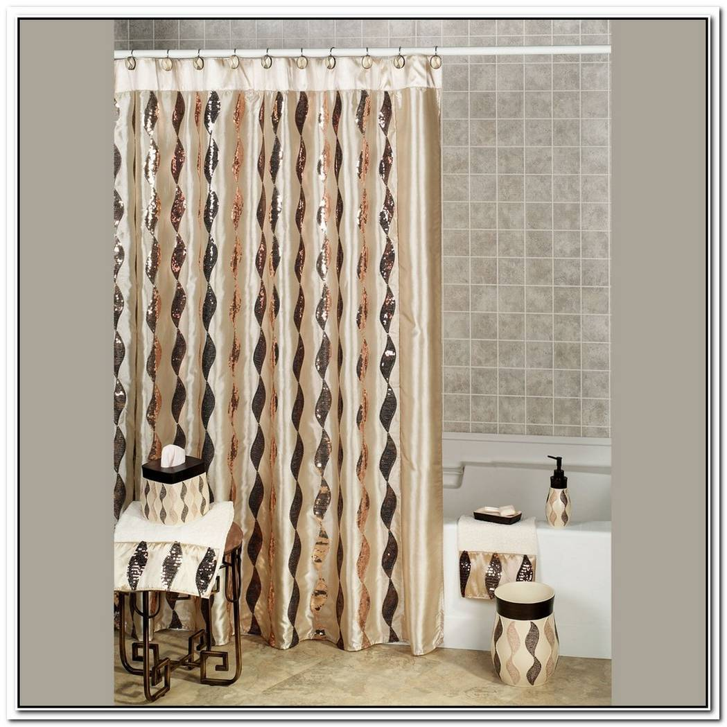 Shimmer Bathroom Shower Curtain