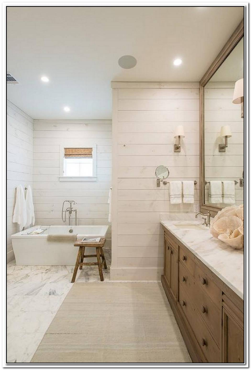 Shiplap Bathroom Brown