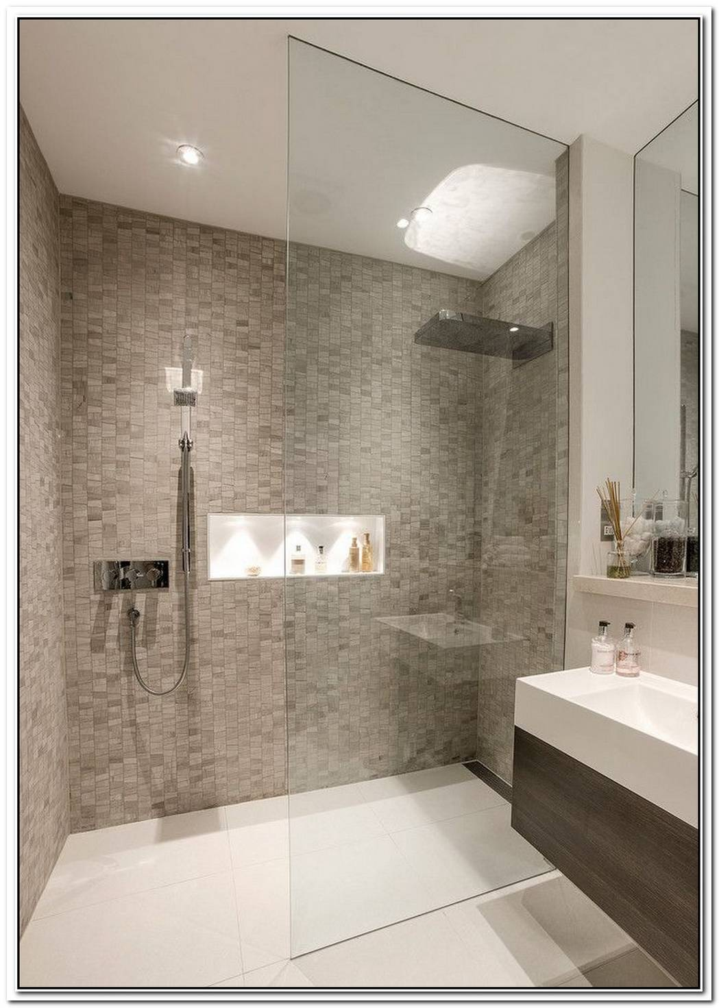 Shower Contemporary Bathroom Basement