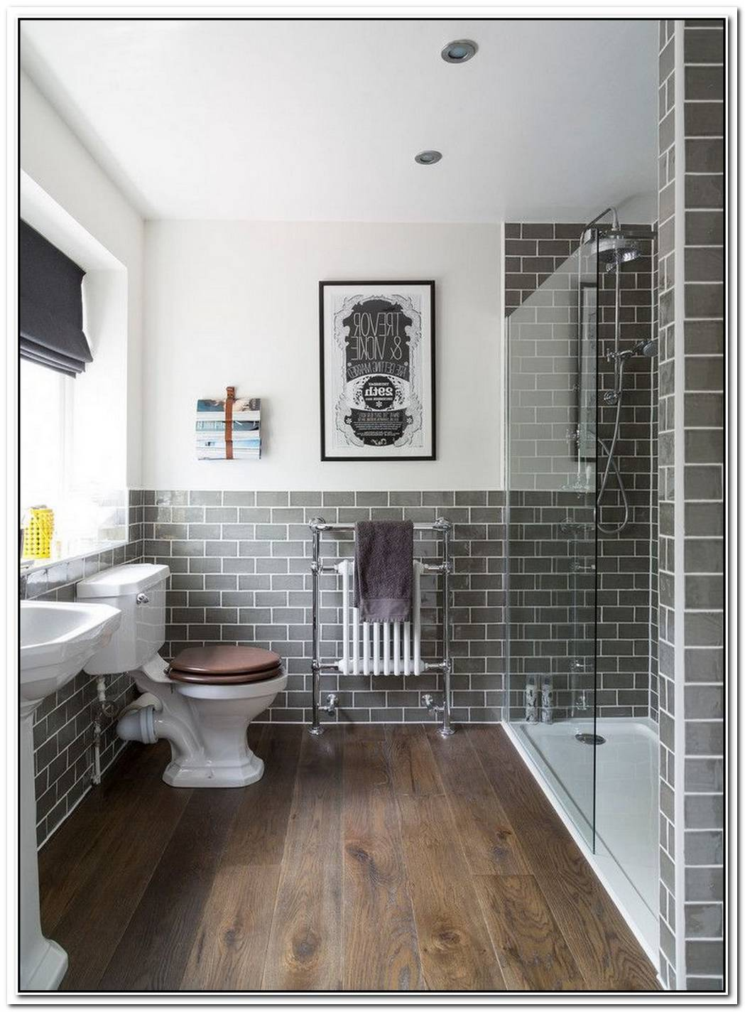 Shower Cubicle Metro Tiled Traditional Bathroom