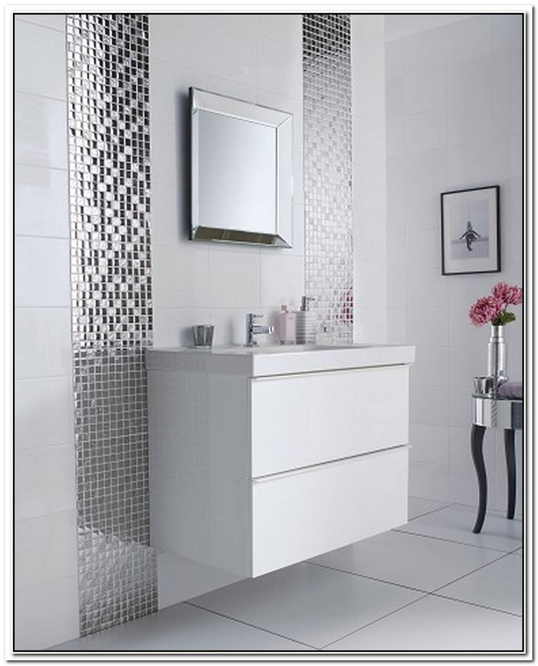 Silver White Bathroom