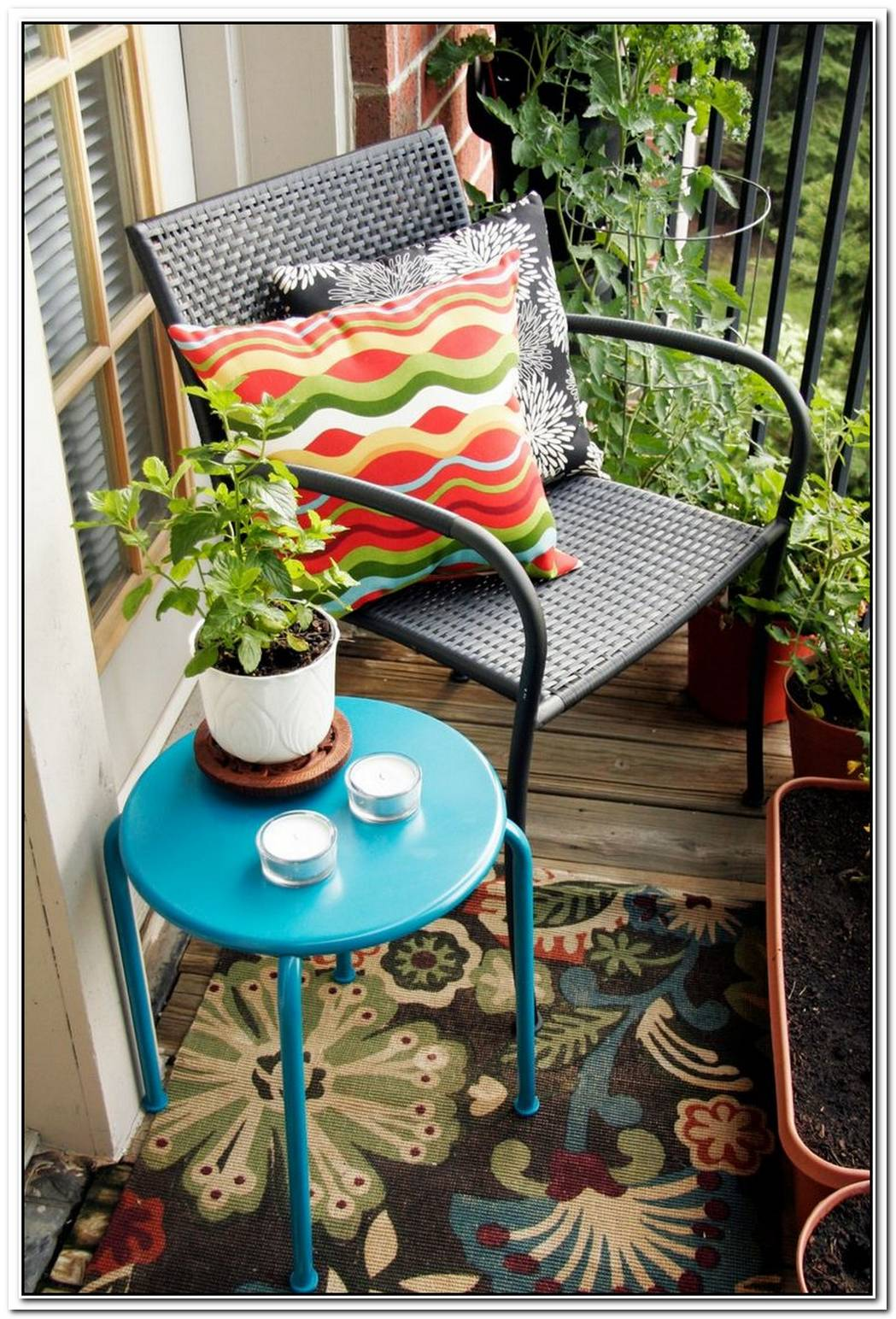 Simple And Beautiful Ways To Add Color To A Small Porch