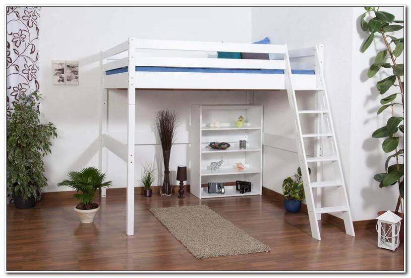 Simple Kinderhochbett Weiß