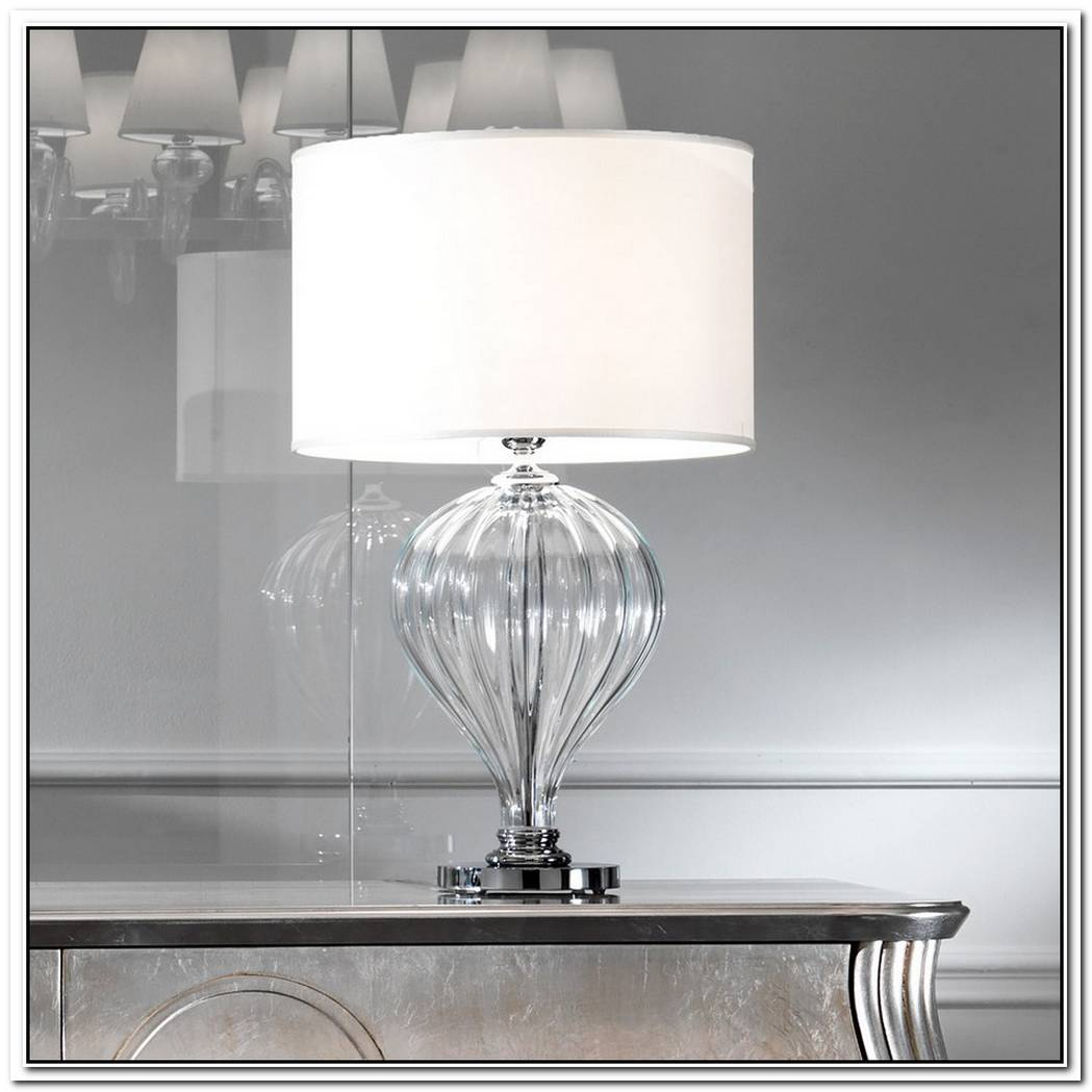 Simple Murano Glass Table Lamp
