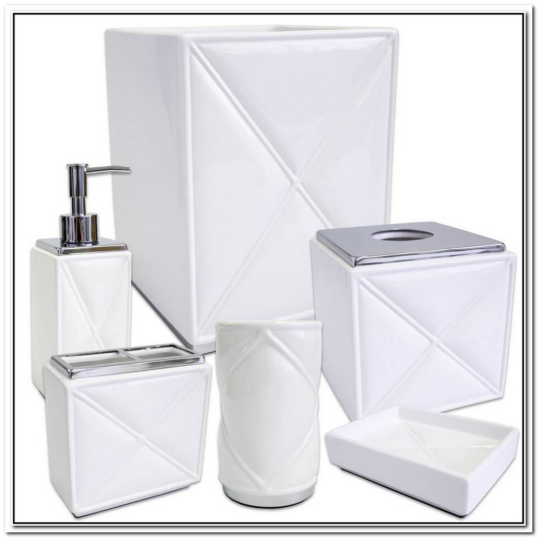 Six Piece Bathroom Accessory Set