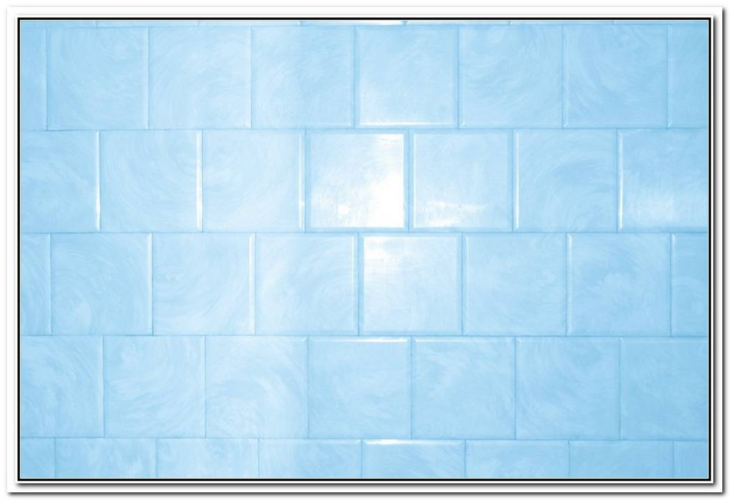 Sky Blue Bathroom Tiled