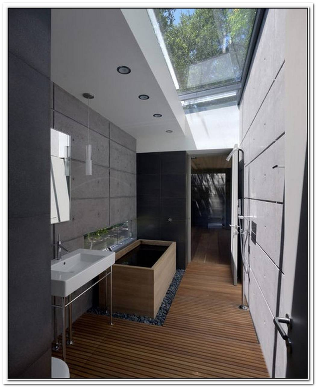 Skylight Bathroom Interior