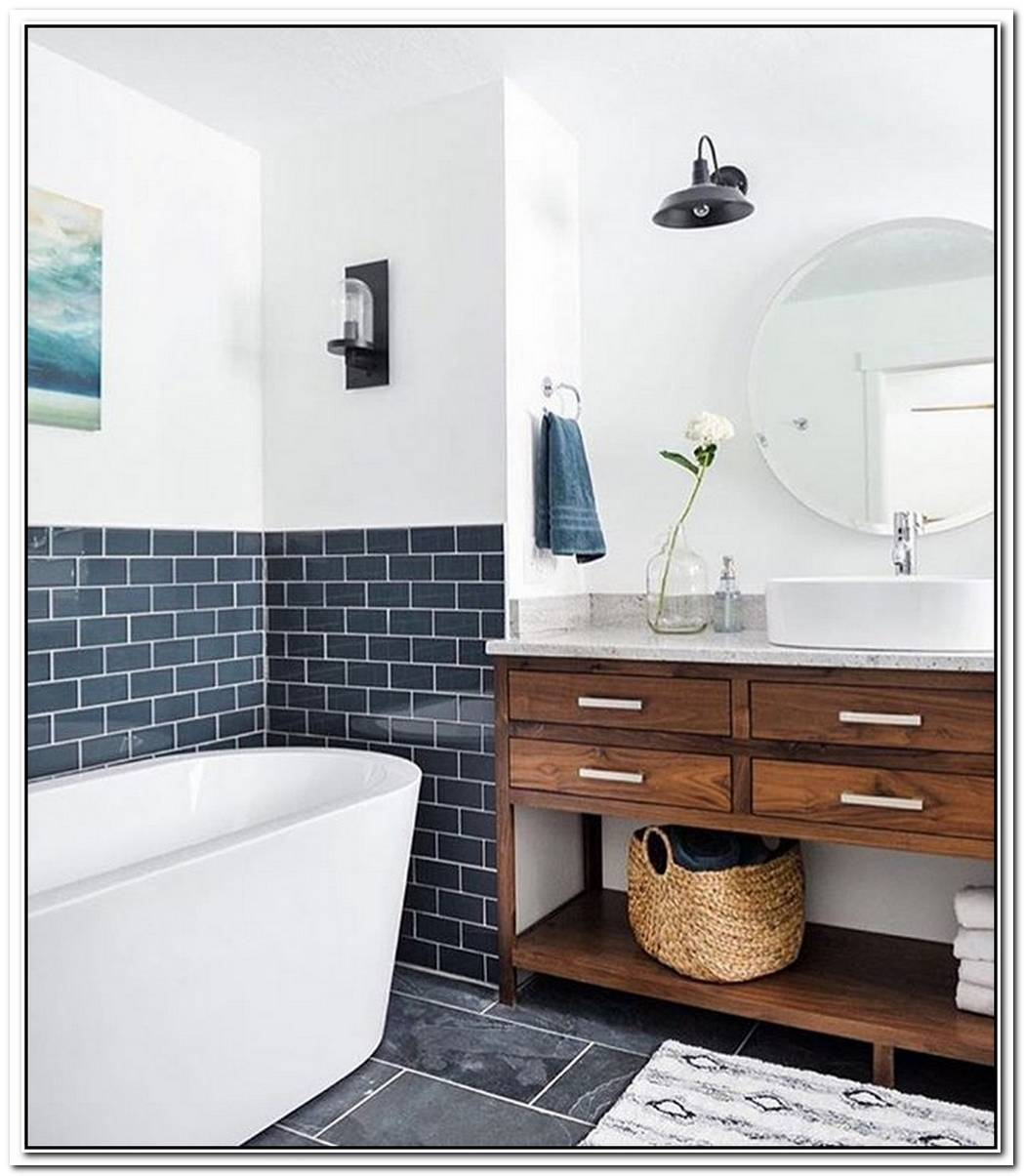 Slate Bathroom Modern Tile Highlight