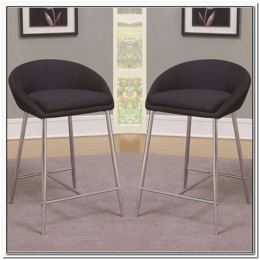 Sleek Design And Chrome Base Bar Stool