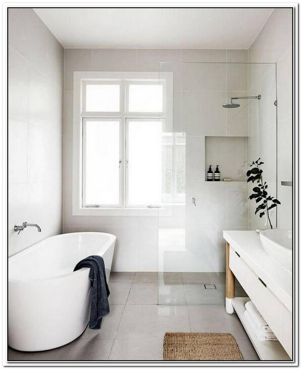 Small Minimalist Bathroom Color