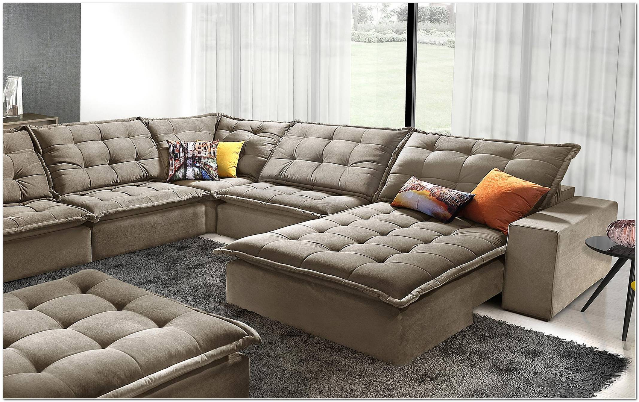 Sofa De Canto Retratil E Reclinavel