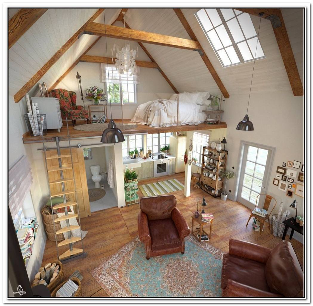 Sophisticated Loft Living In Refurbished Barn Home