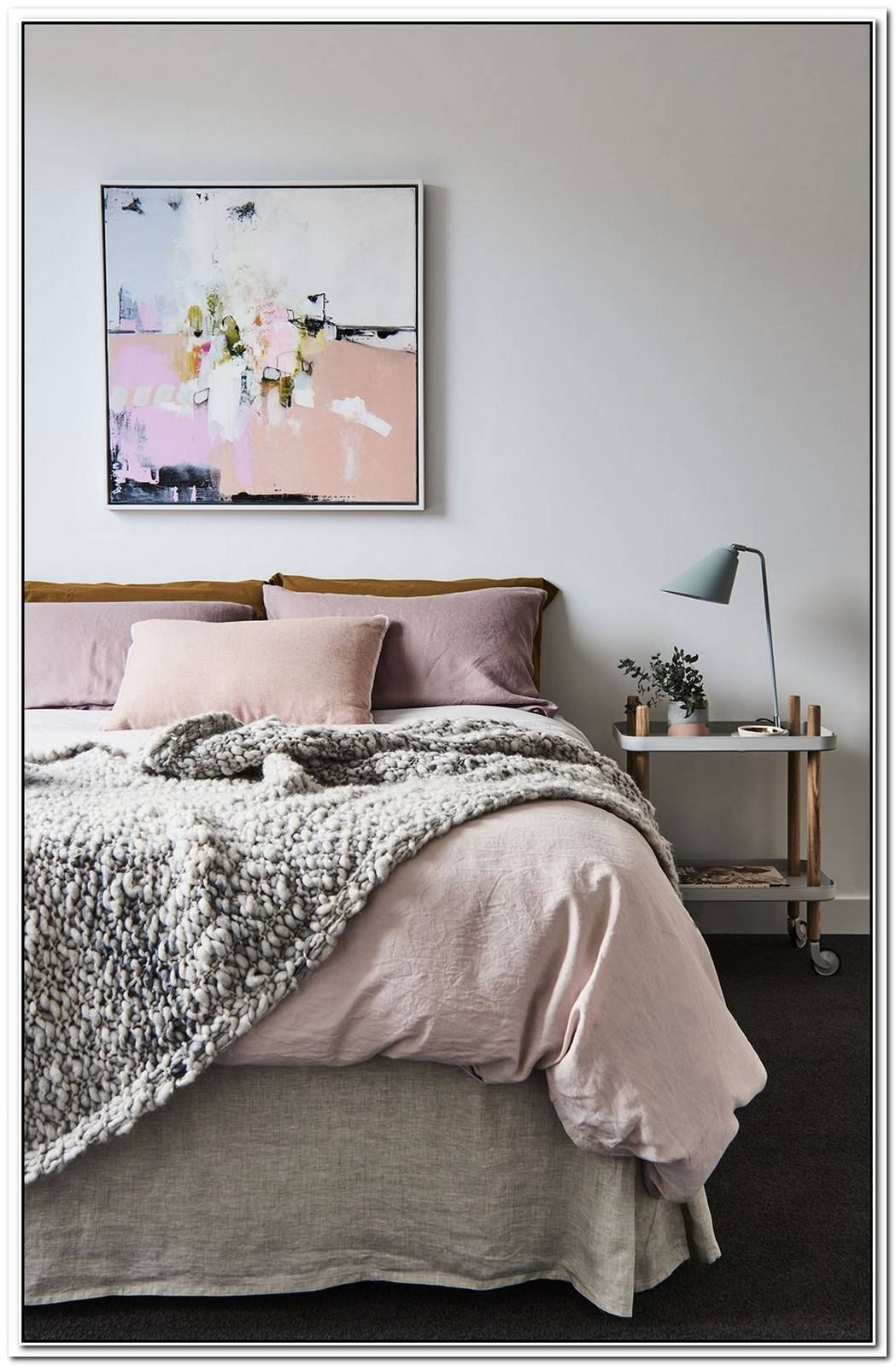 Sophisticated Pastels And Whimsical Accents Elevate A Dreamy Bedroom