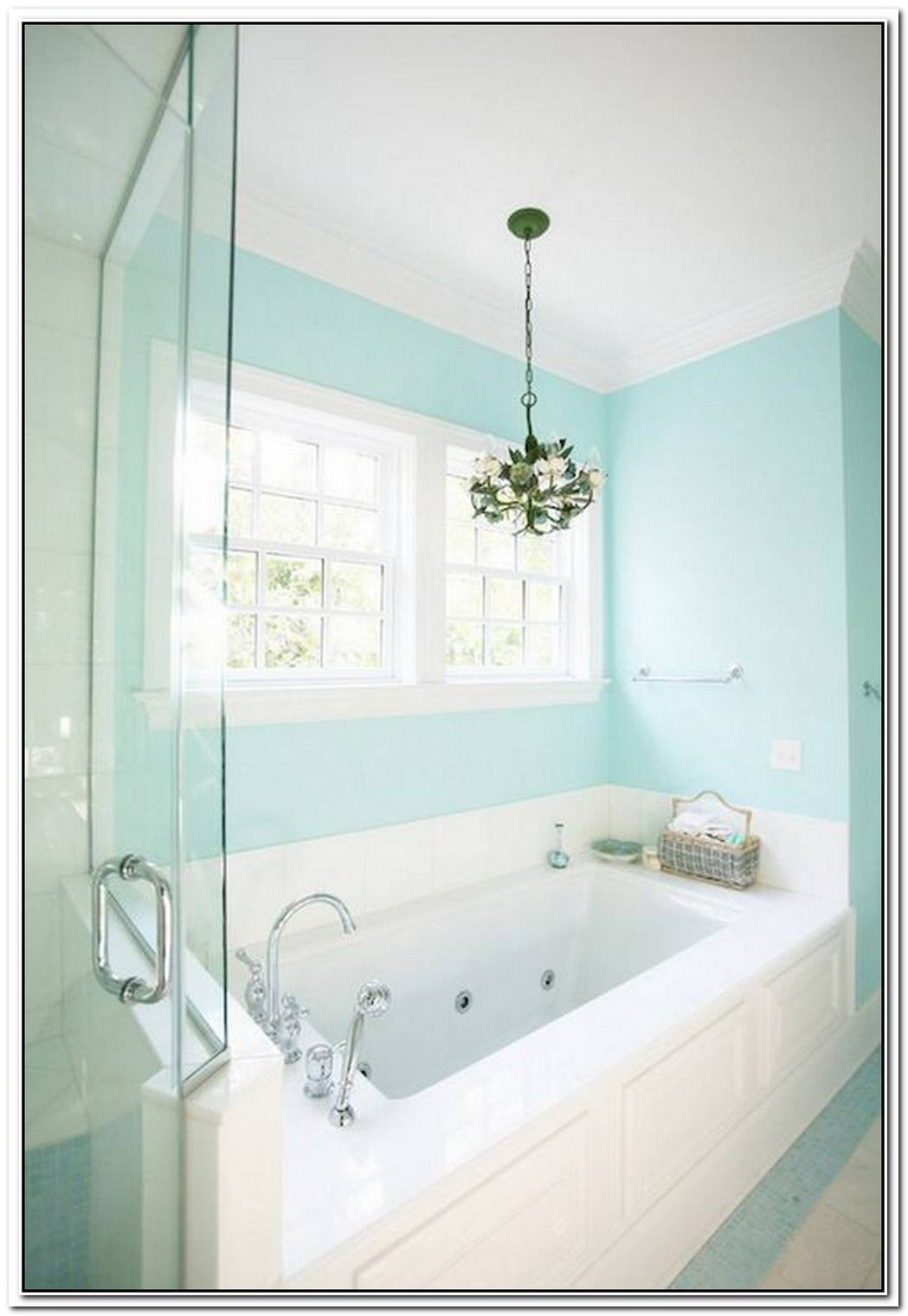 Spa Bathroom Light Blue