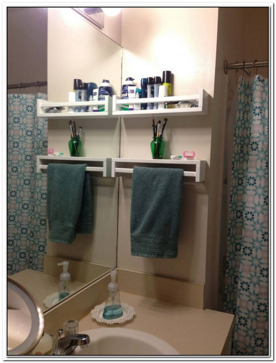 Space Saving Ideas Under Your Bathroom Fixtures