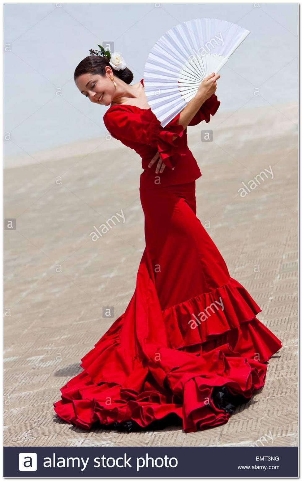 Spanische Flamenco TäNzerin Frisur