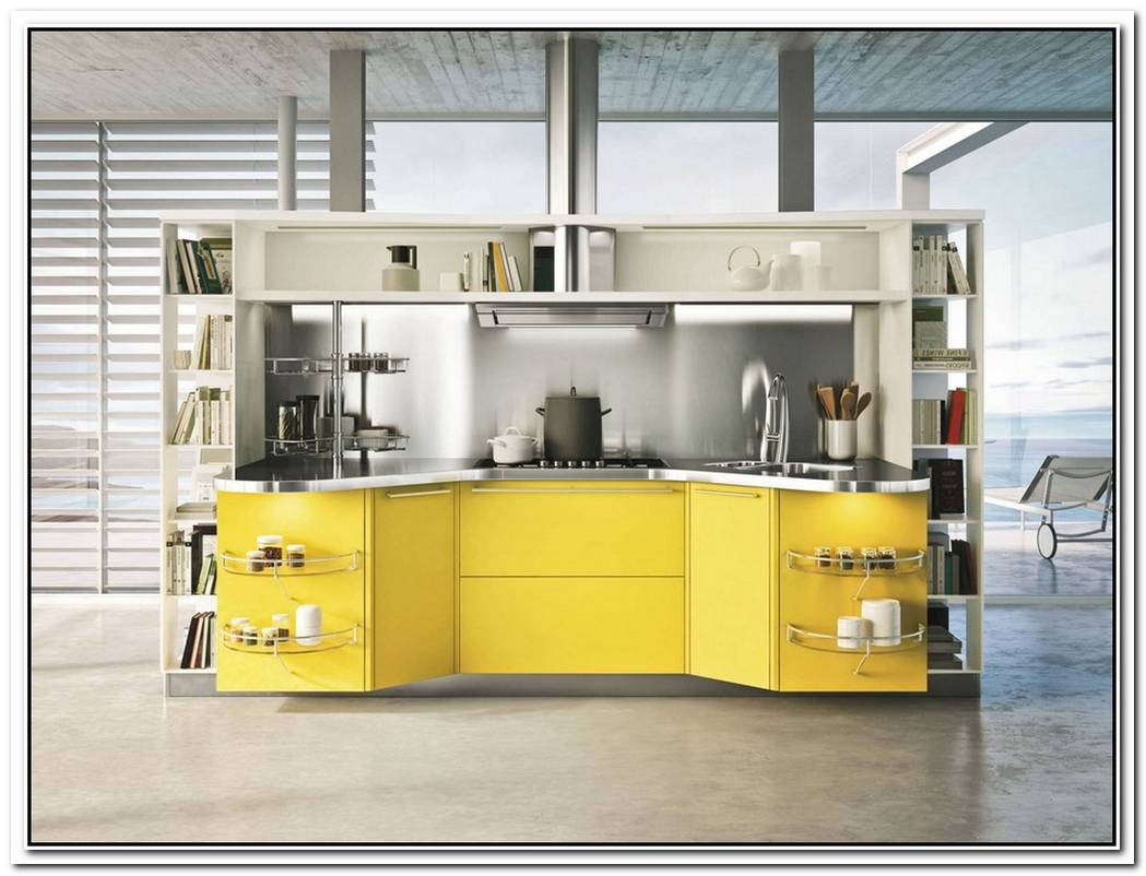 Sparkling Yellow Kitchen Design By Snaidero
