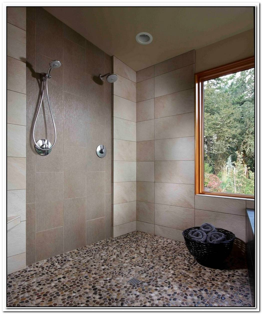 Stone Bathroom Modern Pebble Shower