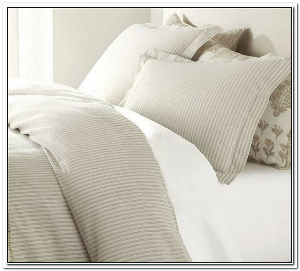 Striped Duvet Covers Shams For A Fancy Bedroom