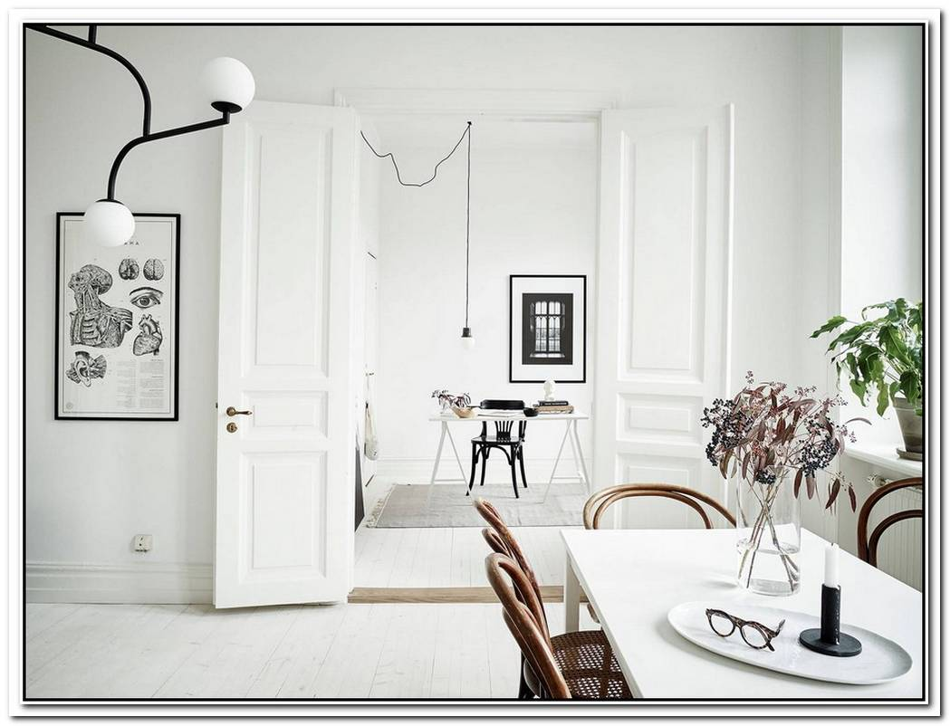 Stylish Black And White Scandinavian Interior