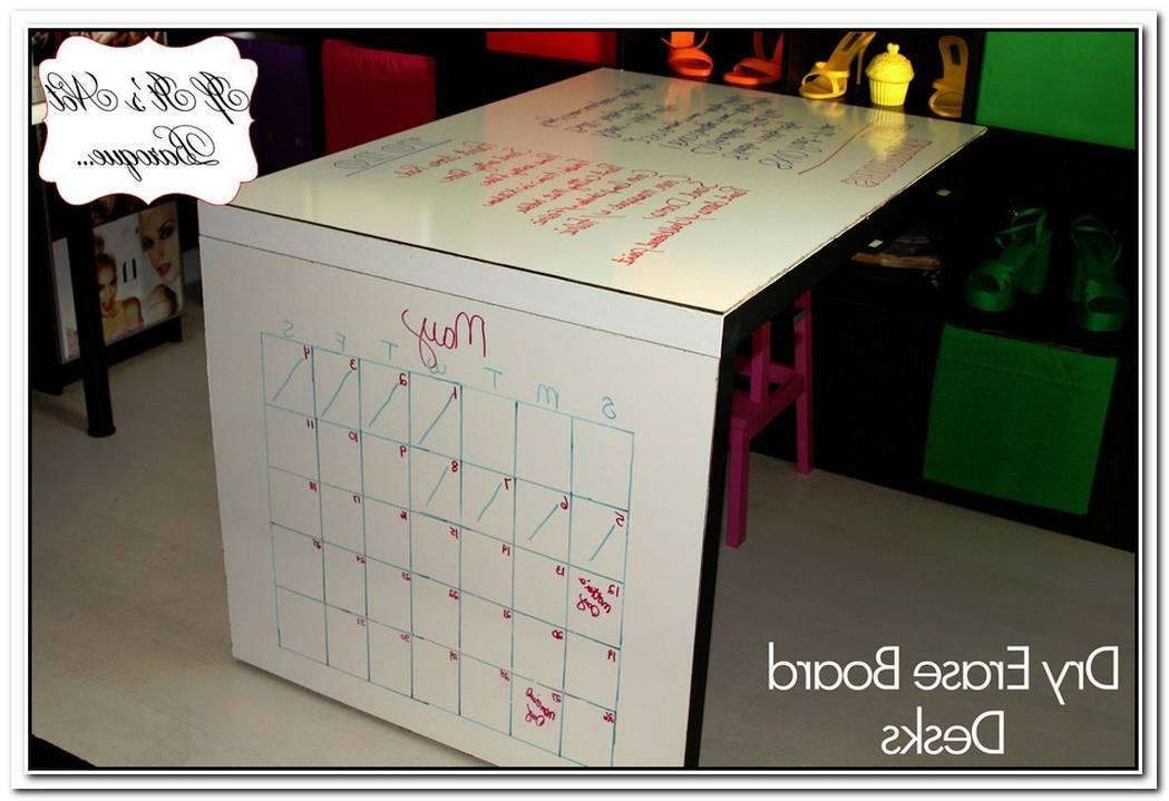 Stylish Diy Dry Erase Paint Desk