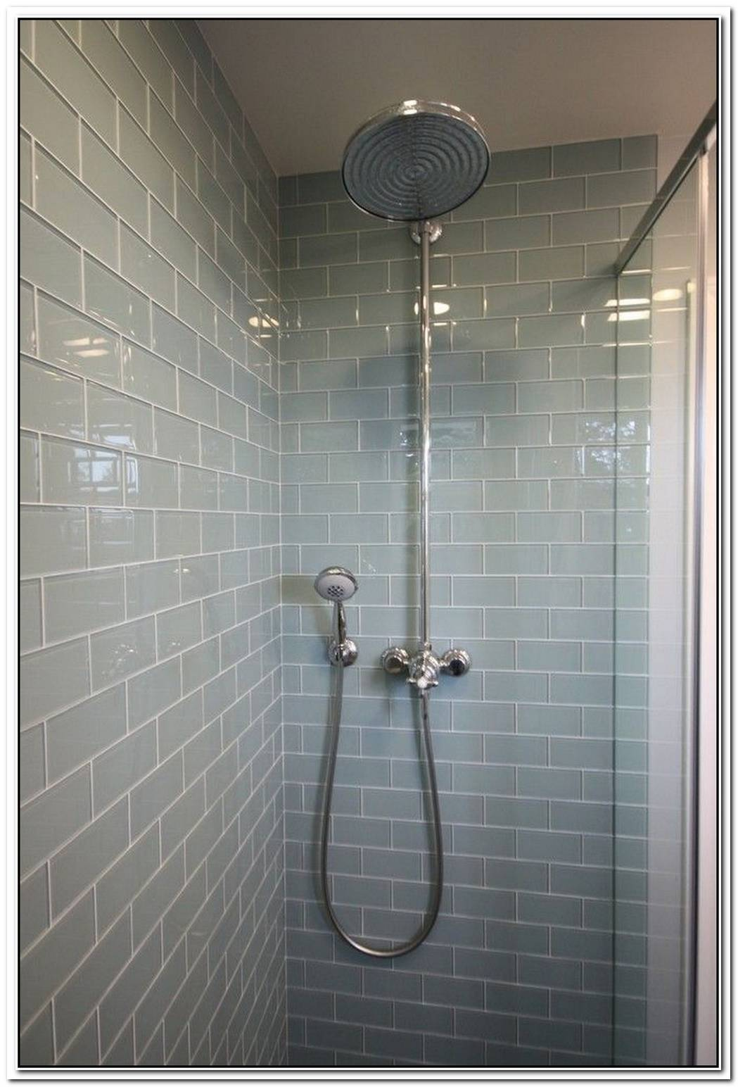 Subway Tiles Glass Tile Bathroom Modern