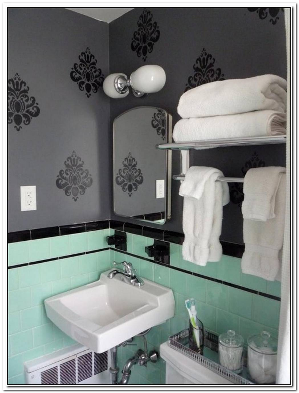 Suite Bathroom Mint Green