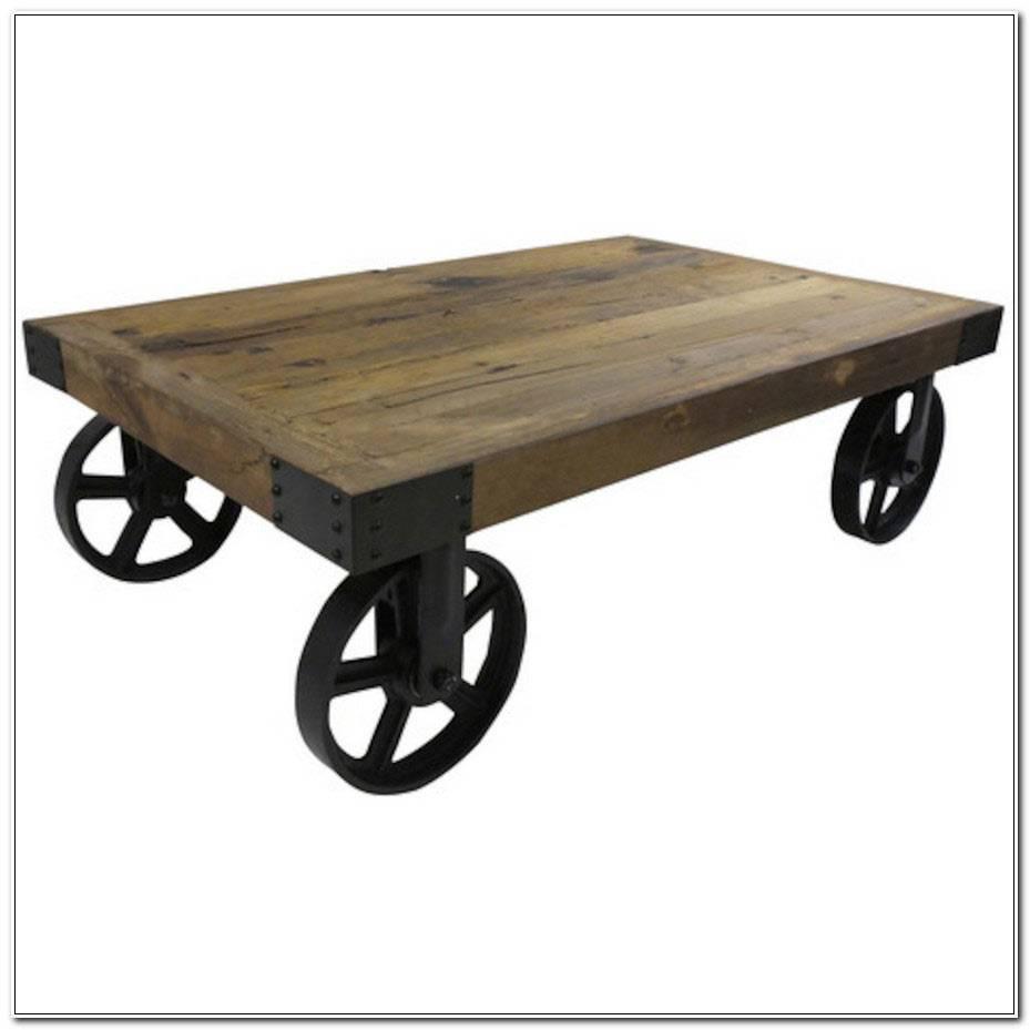 Table Basse Avec Roue