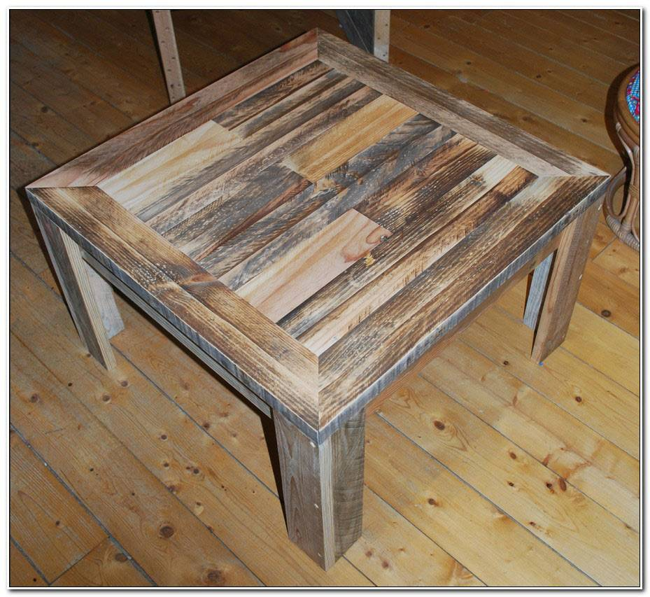 Table Basse Carre En Palette