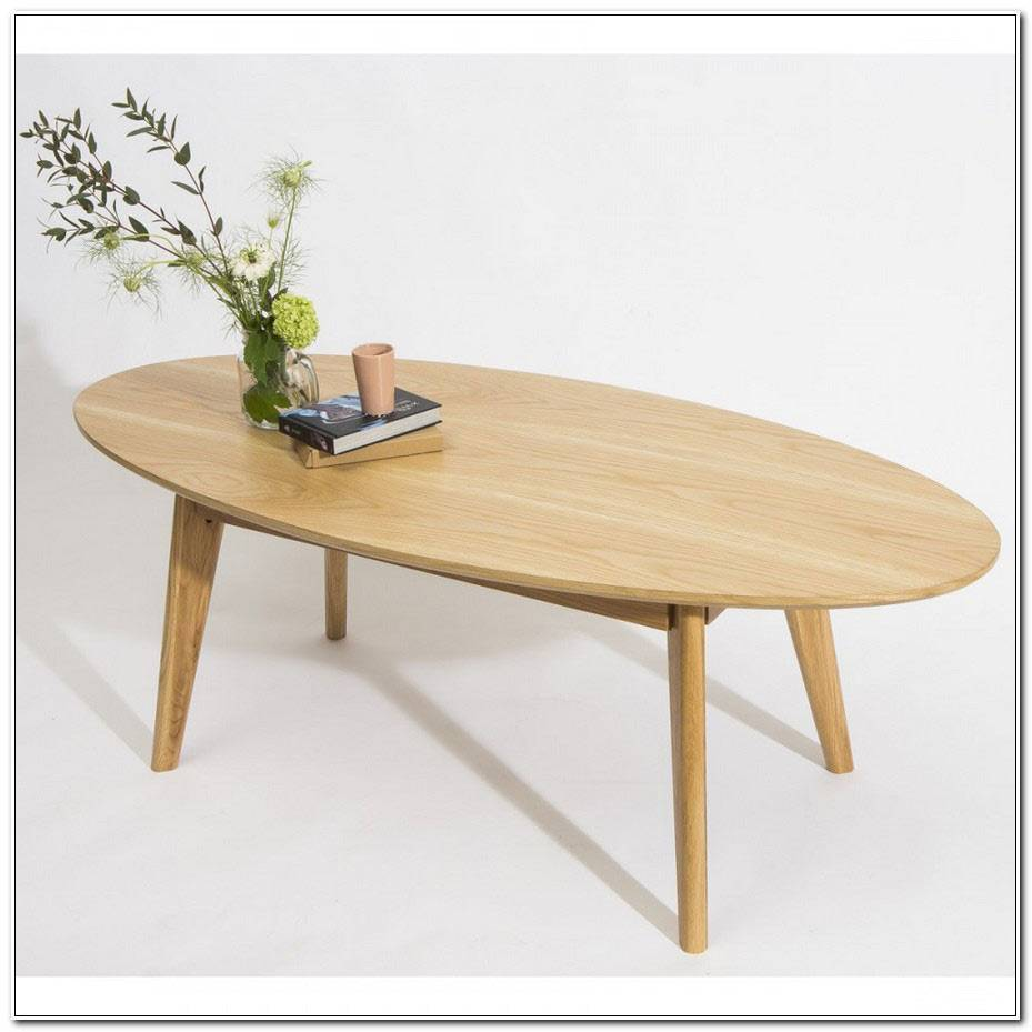 Table Basse Ovale En Bois