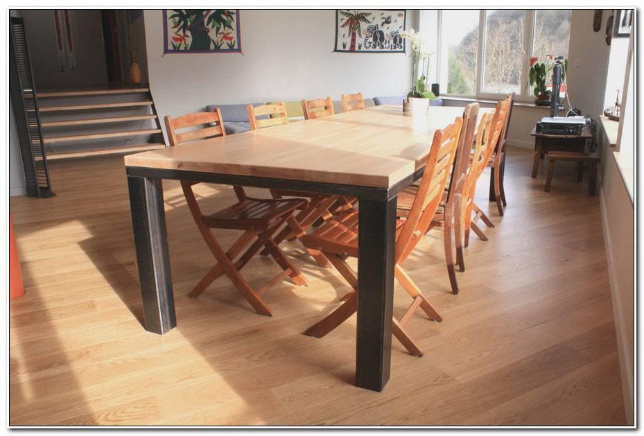 Table Bois Fer Forgé Salle Manger