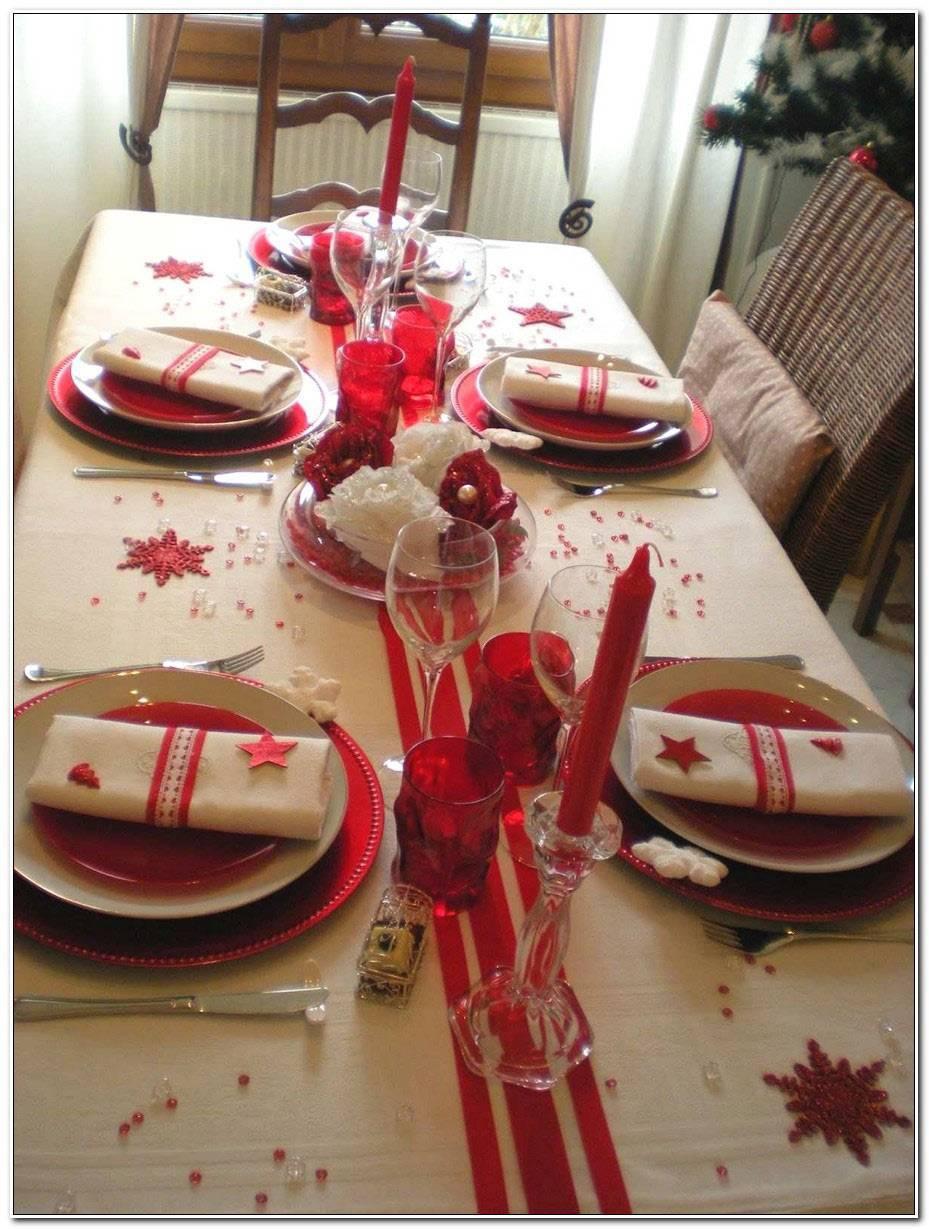 Table De Noel Rouge Et Blanche