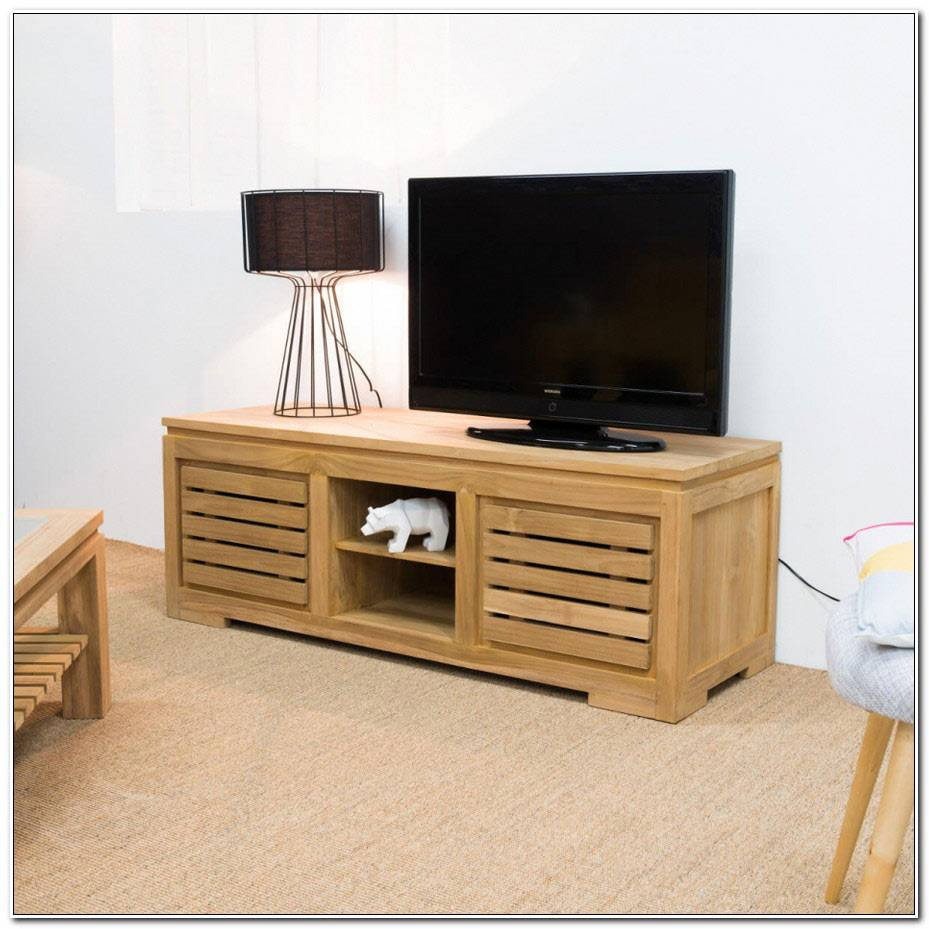 Table De Television Plasma En Bois