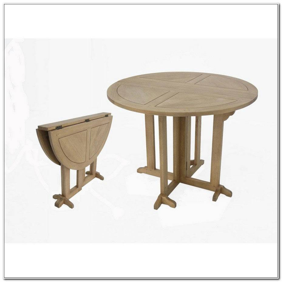 Table Ronde Pliable En Demilune