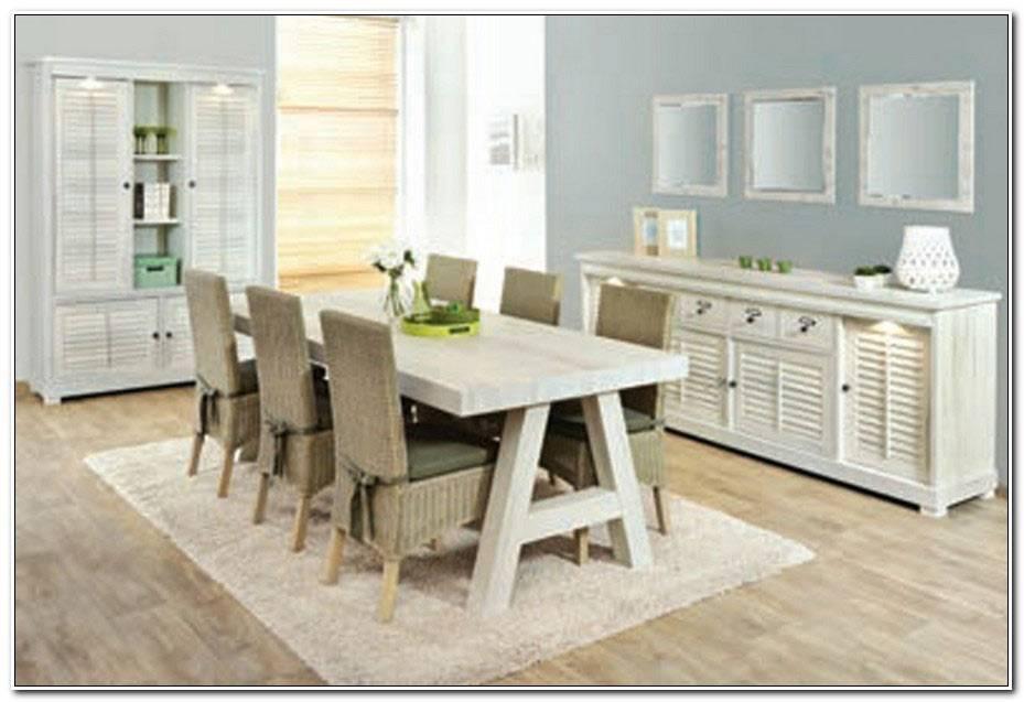 Table Salle A Manger Bois Et Blanc