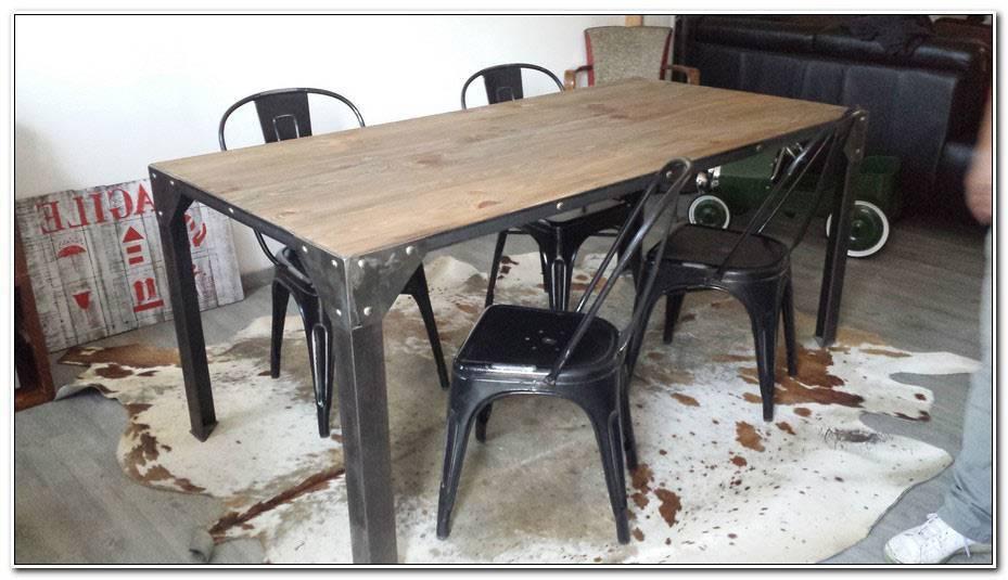 Table Salle A Manger Industrielle Pas Cher