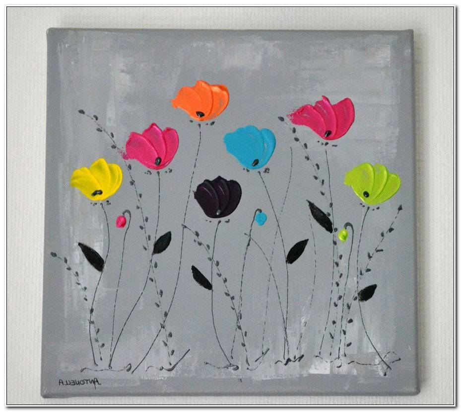 Tableau De Fleurs Moderne
