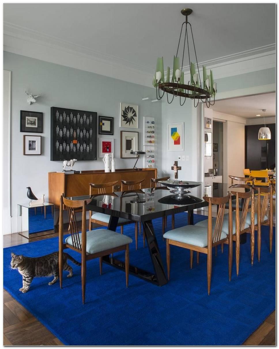 Tapete Para Sala De Jantar Azul