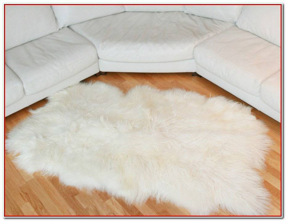 Tapis Blanc Long Poil