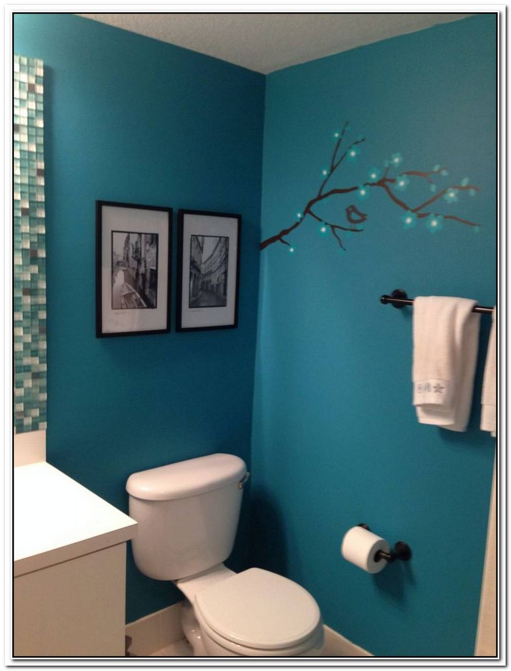 Teal Guest Bathroom