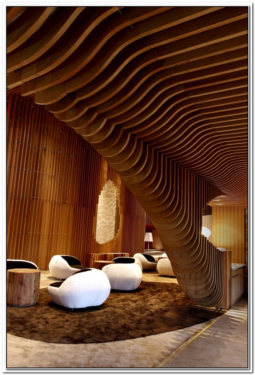The Beautiful Wooden Interior Of Tianxi Oriental Club
