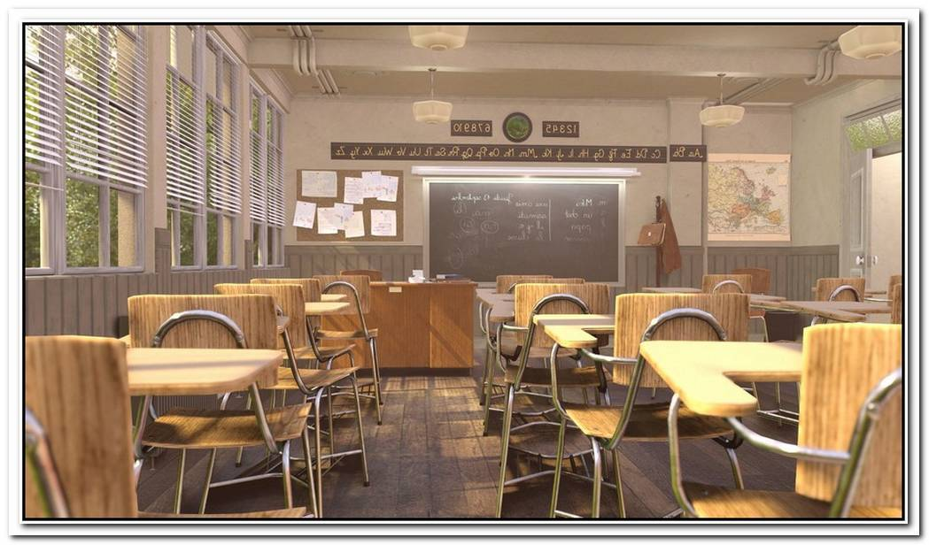 The Class Room In Blender Eevee