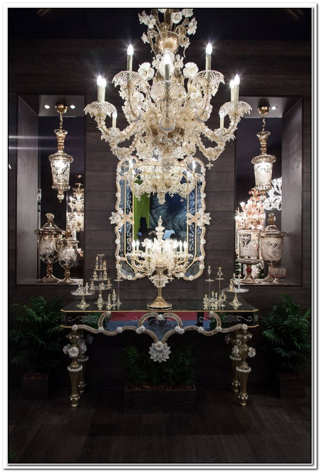 The Crystal Chandelier Like Centerpiece In Our Homes