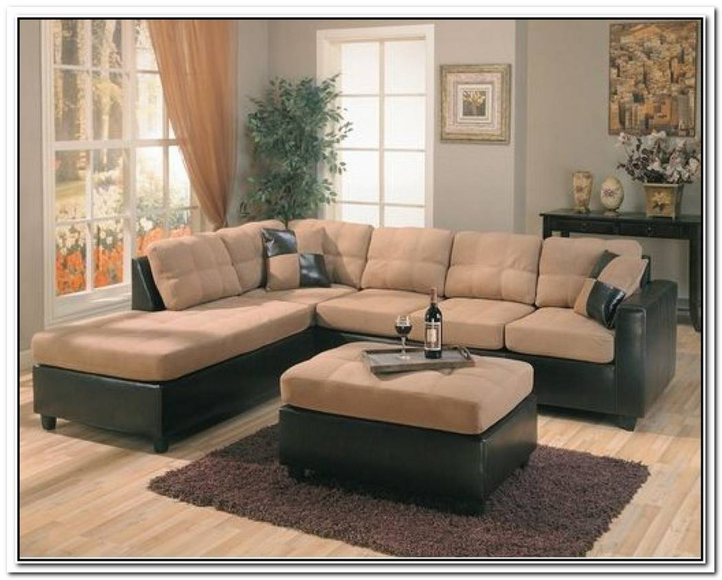 The Elegant Wildon Home Bailey Microfiber Sectional Sofa