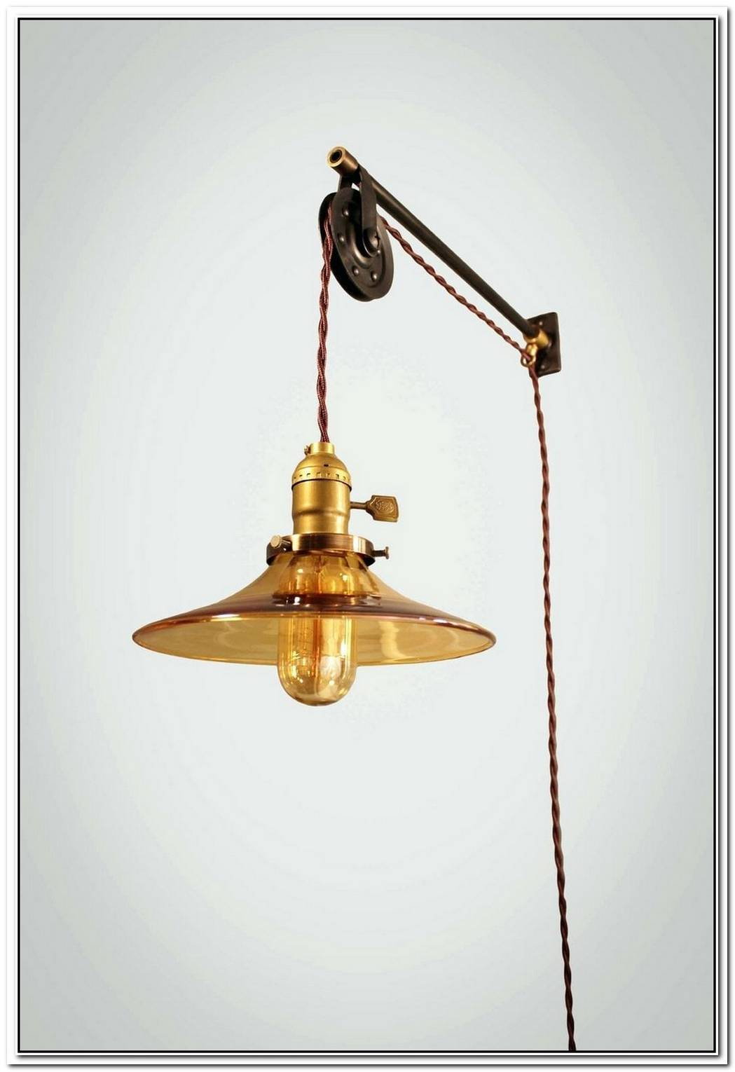 The Industrial Pulley Double Pendant
